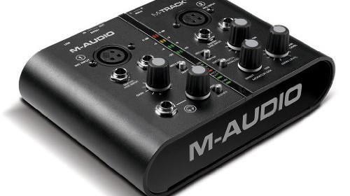 Poddi Personal Audio Interface : M audio track plus two channel portable usb and