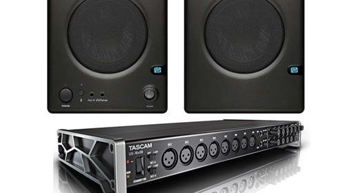 tascam us 16 08 16 8 channel usb audio interface bundle with presonus ceres c3 5bt two way 3 5. Black Bedroom Furniture Sets. Home Design Ideas