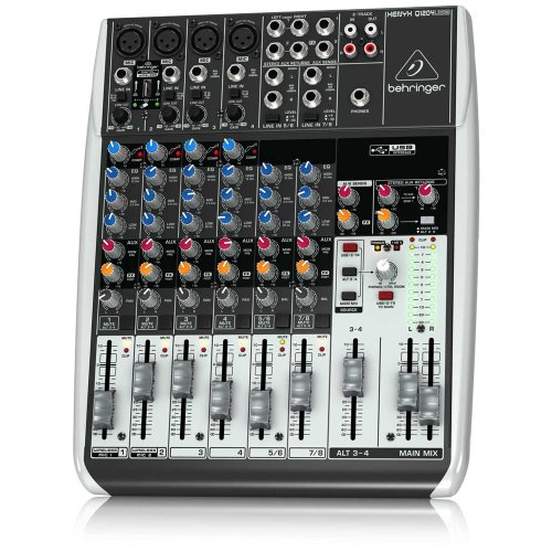 behringer q1204usb 12 input 2 2 bus usb audio interface mixer with mic preamps compressors. Black Bedroom Furniture Sets. Home Design Ideas